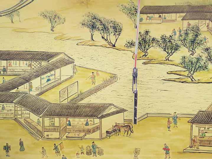 [竹文心城市文化墙案例]五一广场桐荫里社区-清明上河图