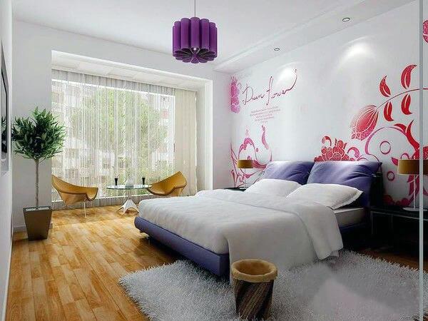 长沙竹文心壁画美文–卧室背景墙用墙绘来装