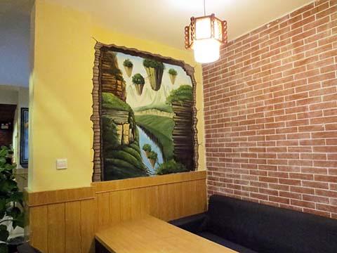[长沙竹文心3D立体画案例]----提莫餐厅3D立体画三