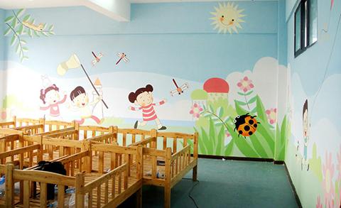[长沙竹文心幼儿园墙体彩绘案例]---宝宝高级幼儿园