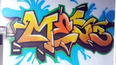 [长沙竹文心墙绘涂鸦案例]----餐厅涂鸦墙绘