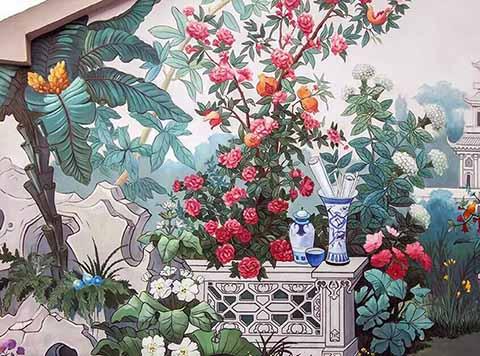 [长沙竹文心墙绘壁画案例]---长沙墙绘案例