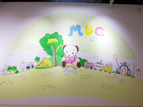 [长沙墙绘壁画竹文心壁画案例]---长沙MBC 母婴生活馆卡通壁画三
