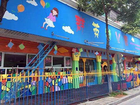 [长沙墙绘壁画竹文心幼儿园壁画案例]---长沙群英幼儿园壁画