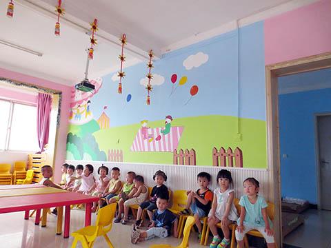[长沙墙绘壁画竹文心幼儿园壁画案例]---长沙奥林之星幼儿园壁画