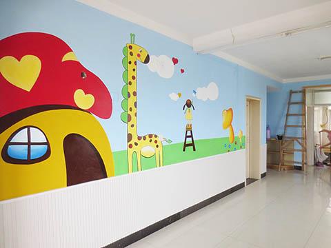 [长沙墙绘壁画竹文心幼儿园壁画案例]---长沙奥林之星幼儿园壁画二