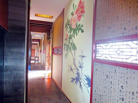 [长沙墙绘壁画竹文心餐厅壁画案例]---春花语人文茶馆-花鸟图
