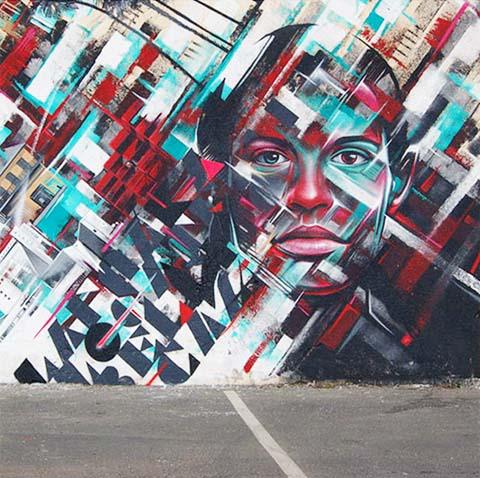 长沙竹文心解说街头墙绘壁画-酷炫涂鸦