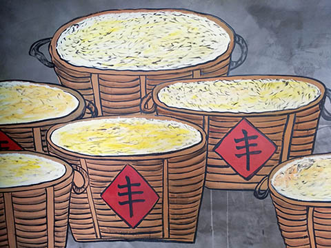 [长沙竹文心墙绘公司壁画案例 ]---广东肇庆湖南人家中餐厅墙绘