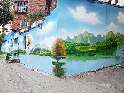 [长沙竹文心墙绘公司壁画案例 ]---邵阳市新邵县小溪路墙绘手绘