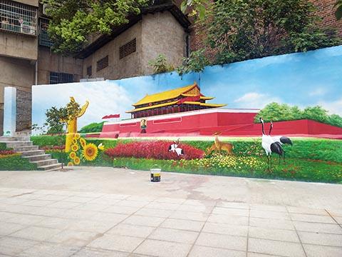 [长沙竹文心墙绘公司壁画案例 ]---邵阳市新邵县小溪路墙绘手绘2
